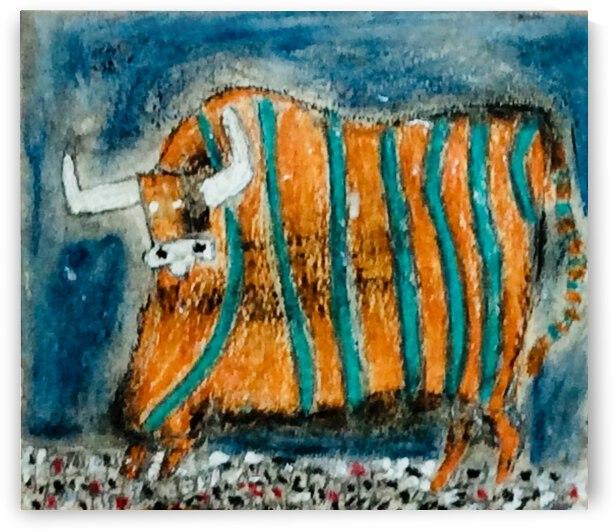 Funky Bull  by Zaramar Paintings
