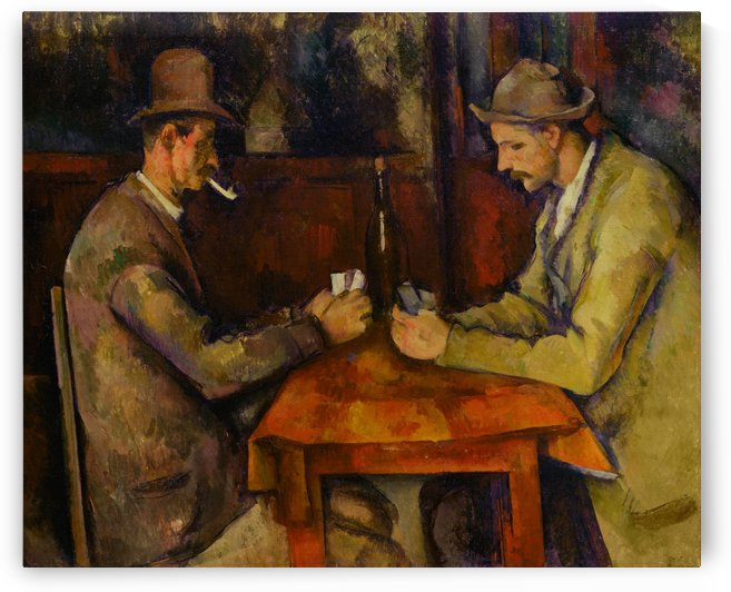 Paul Cezanne: The Card Players HD 300ppi by Famous Paintings