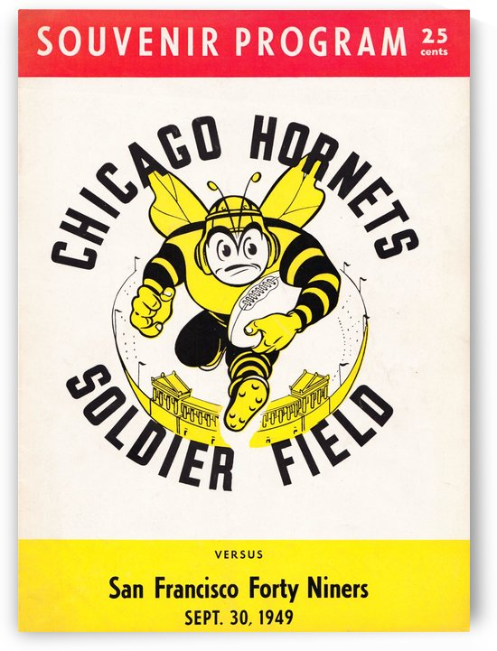 Unique Chicago Gift Ideas 1949 Chicago Hornets Soldier Field San Francisco 49ers Poster by Row One Brand