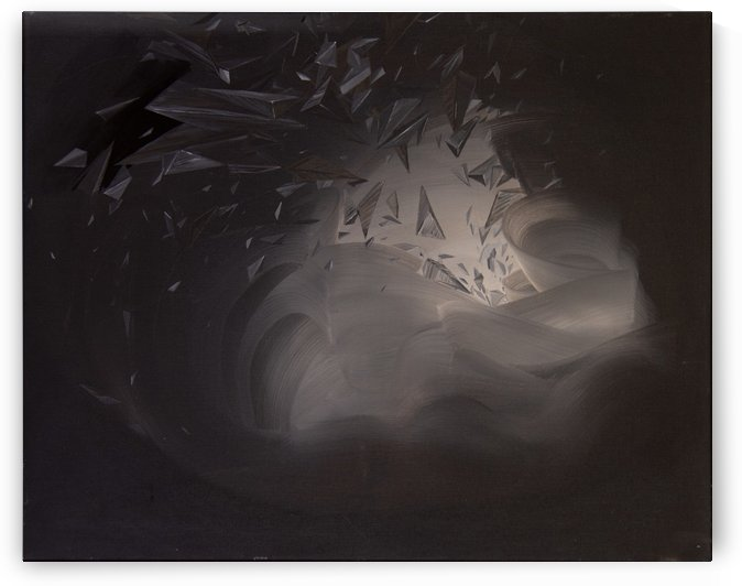 Space and Time 61x76cm by Suki Zhang
