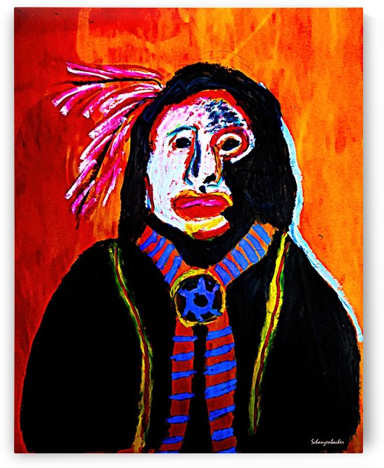 Masked Indian by Aurelia Schanzenbacher Sisters Fine Arts