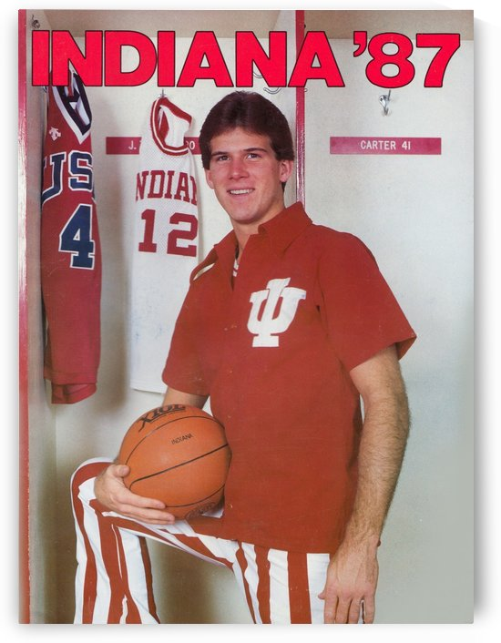 College Basketball Indiana Hoosiers 1987 Steve Alford Poster IU by Row One Brand