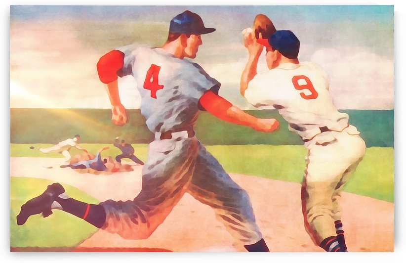 Summer Hit Baseball Sports Art Cool Wall Decor Ideas by Row One Brand