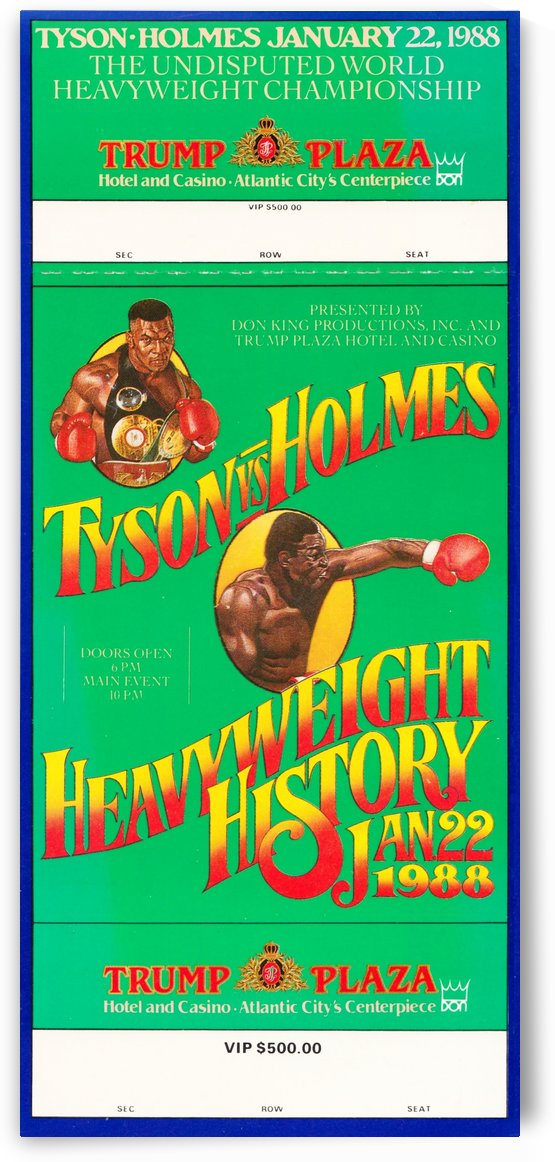 1988 tyson vs holmes fight trump plaza by Row One Brand