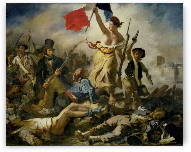 Eugene Delacroix:Liberty Leading the People HD 300ppi by Famous Paintings