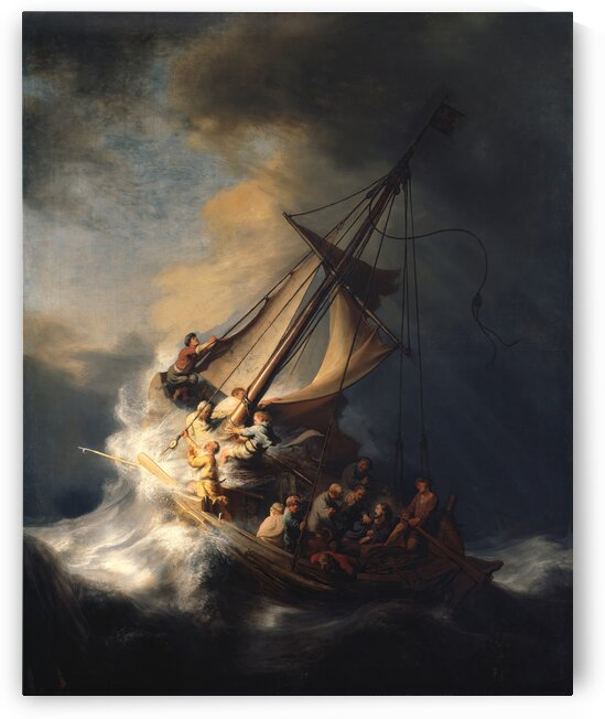 Rembrandt van Rijn:The Storm on the Sea of Galilee HD 300ppi by Stock Photography