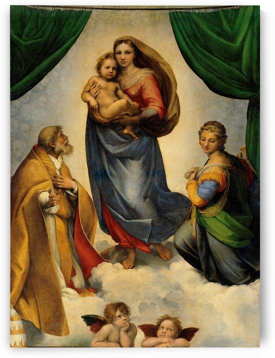 Raphael: Raffaello Sanzio da Urbino -Sistine Madonna HD 300ppi by Famous Paintings