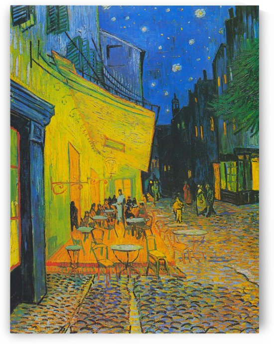 Vincent van Gogh: Cafe Terrace at Night HD 300ppi by Famous Paintings