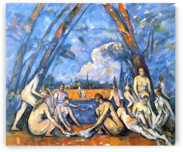 Large Bathers 2 by Cezanne by Cezanne