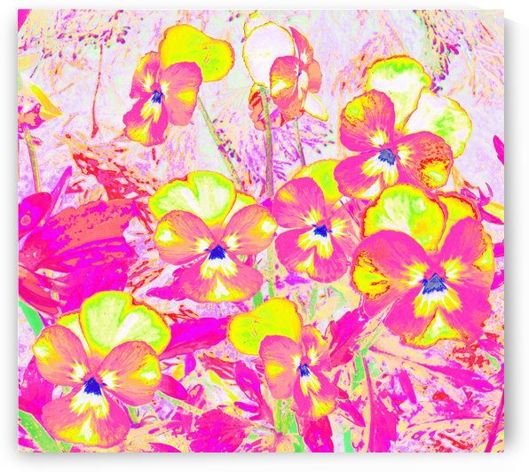Violets Flowers Garden by CvetiArt