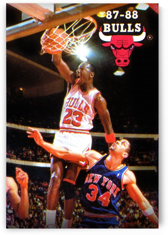 1987 michael jordan chicago bulls poster by Row One Brand