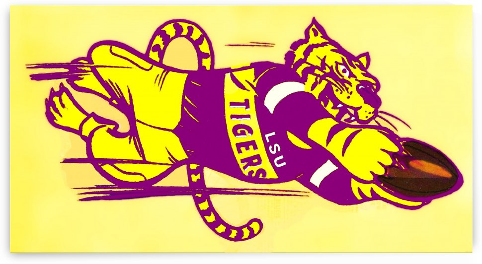 vintage lsu tigers college mascot art (1) by Row One Brand