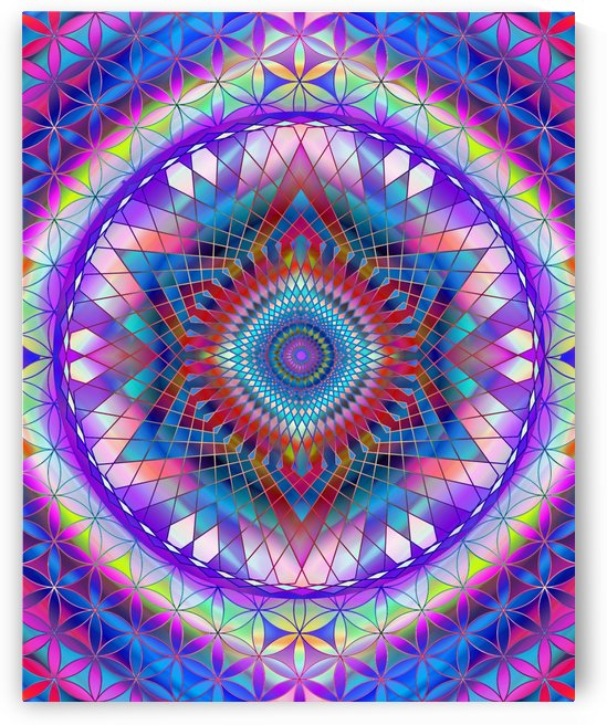 Purple Snowflake Mandala by CvetiArt