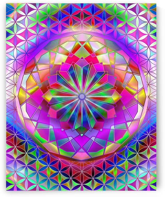 Crystal Flower Mandala by CvetiArt