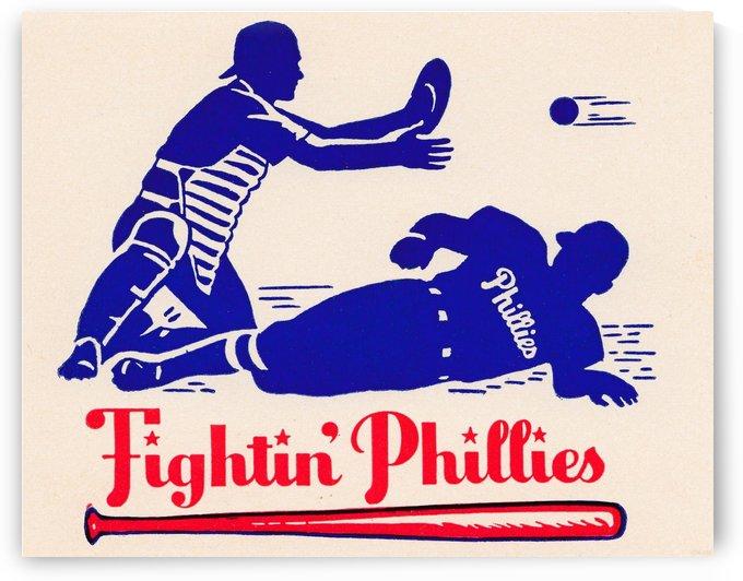 vintage fightin phillies baseball art by Row One Brand
