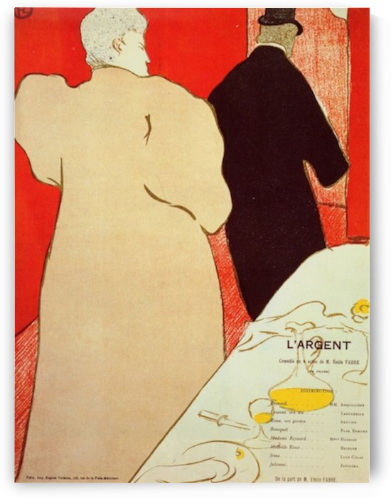 LArgent by Toulouse-Lautrec by Toulouse-Lautrec
