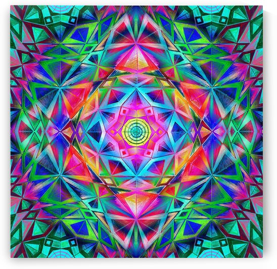 Rainbow Star Mandala by CvetiArt