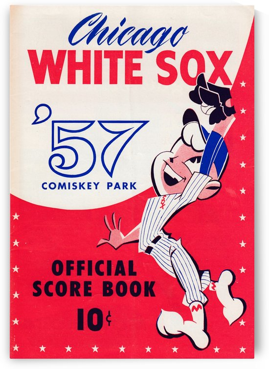 1957_Major League Baseball_Chicago White Sox_Vintage Score Book Wall Art by Row One Brand