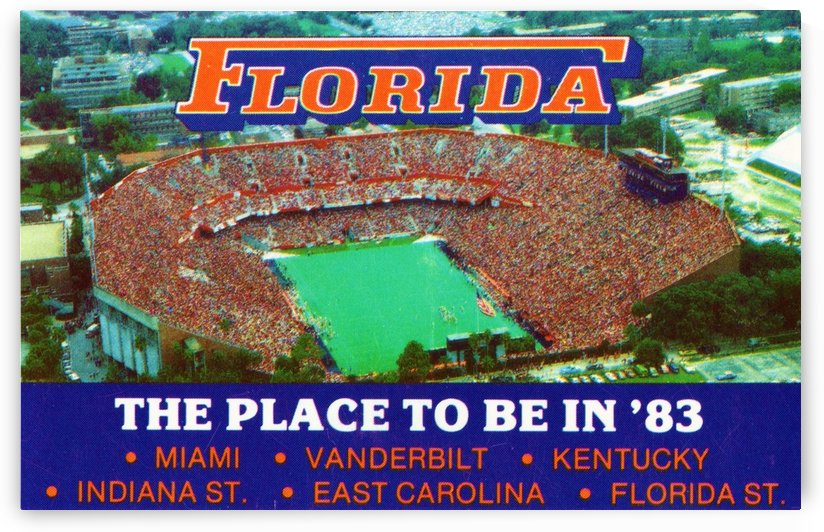 1983 college football florida gators place to be in 83 by Row One Brand