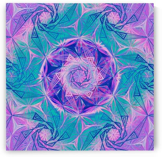 Spirals Kaleidoscope Handdrawing by CvetiArt