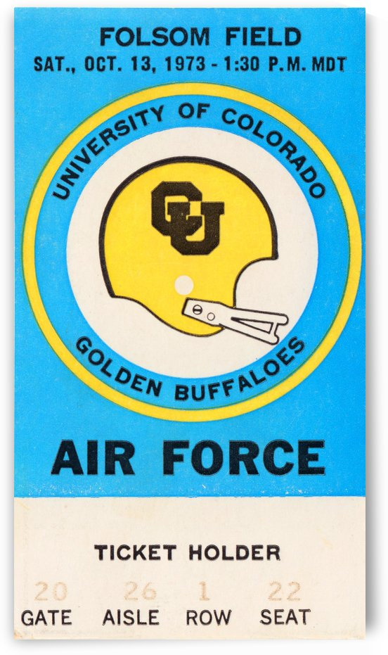 1973 Air Force vs. Colorado by Row One Brand