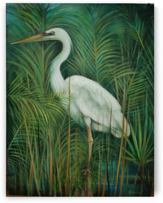 white heron 2 by Bill Gimbel