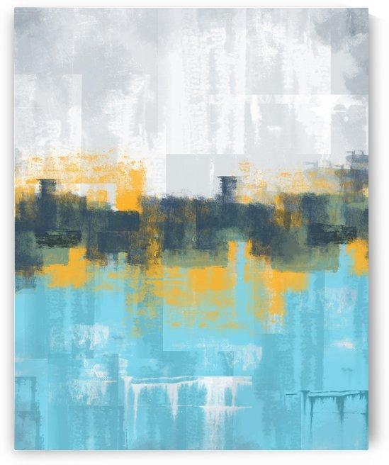 Blue Gray Abstract DAP 20002 by Edit Voros
