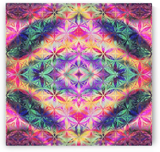 Amazing Flower Of  Life Pattern by CvetiArt