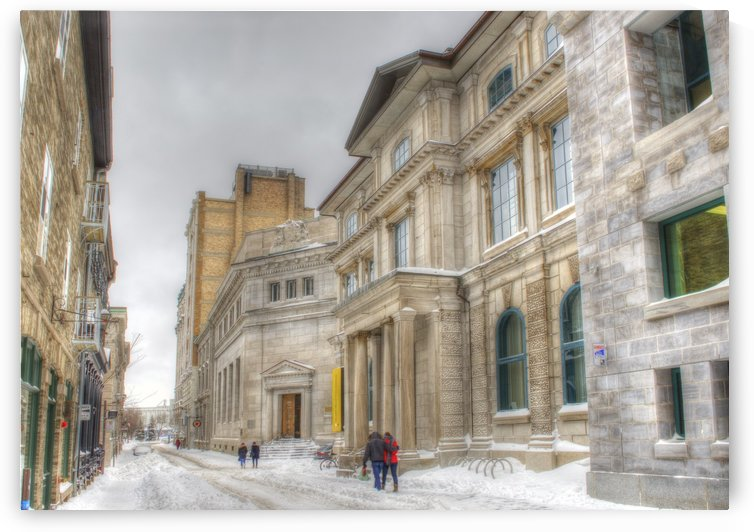 Rue St Pierre en hiver by Christian Bibeau