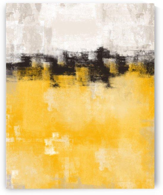 Yellow Gray Abstract DAP 20010 by Edit Voros
