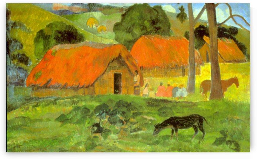Le Trois Huttes by Gauguin by Gauguin