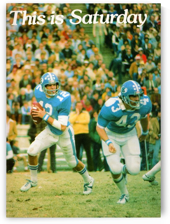 1977 UNC North Carolina Tar Heels Football Poster by Row One Brand