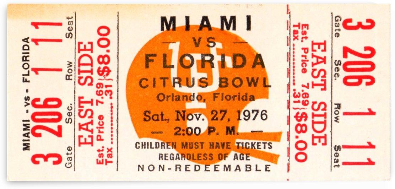 1976 Miami vs. Florida by Row One Brand