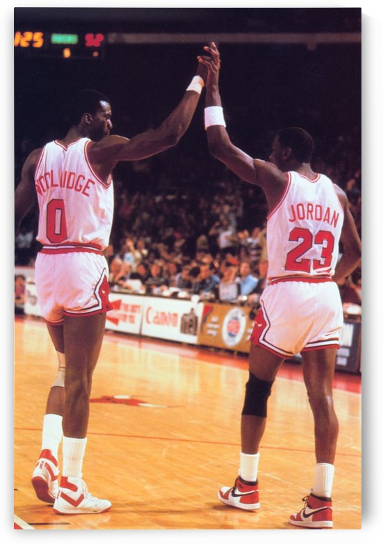 1985 Bulls High 5 Poster by Row One Brand