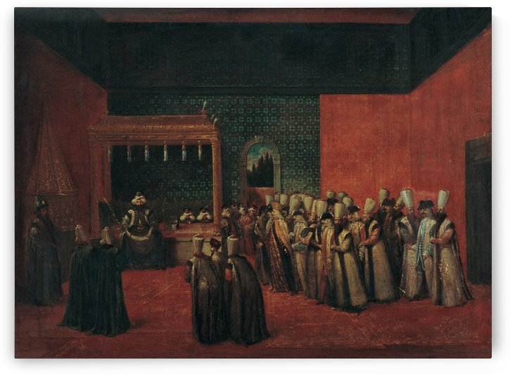 Sultan Ahmet III receiving an European Ambassador by Jean Baptiste Vanmour
