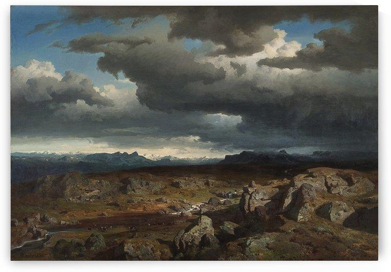 Norwegian mountains by Hans Fredrik Gude