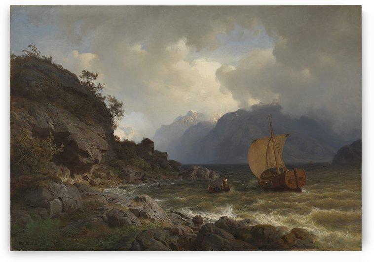Vestlandsfjord by Hans Fredrik Gude