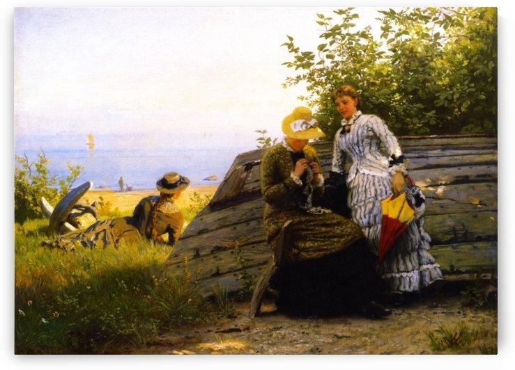 Ladies in the Sunshine by Hans Fredrik Gude