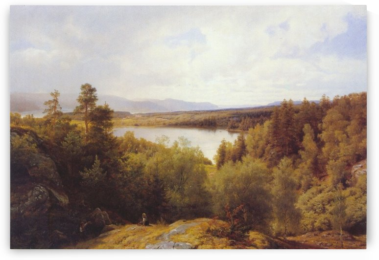 Asterudtjernet, Ringerike by Hans Fredrik Gude