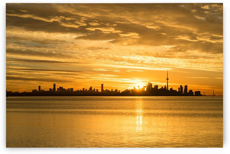 Split Sun Path - A Glorious Toronto Sunrise by GeorgiaM