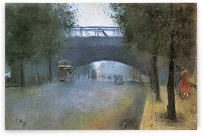 Charing Cross - London by Lesser Ury by Lesser Ury