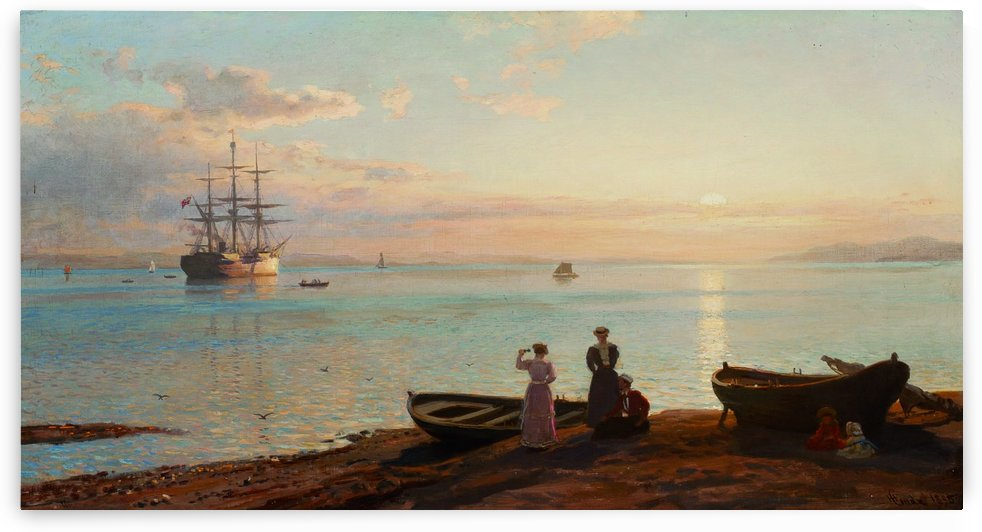 Sea view by Hans Fredrik Gude