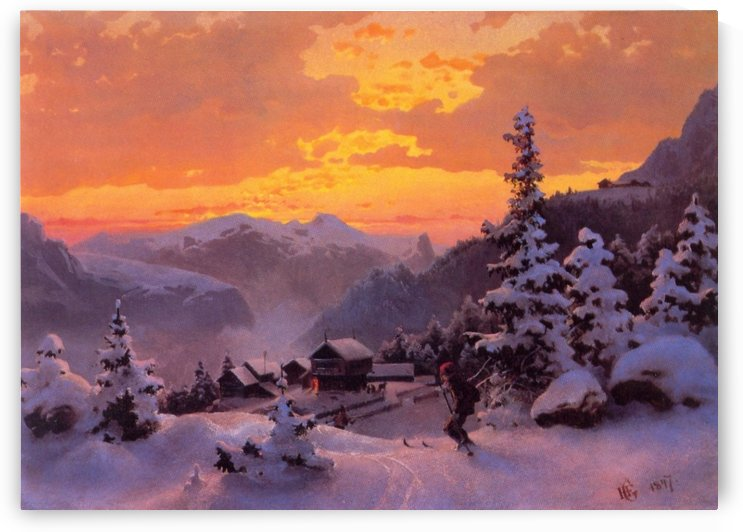 Winter Afternoon by Hans Fredrik Gude