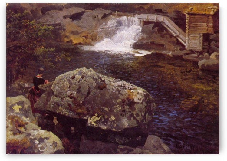 En Molledam by Hans Fredrik Gude