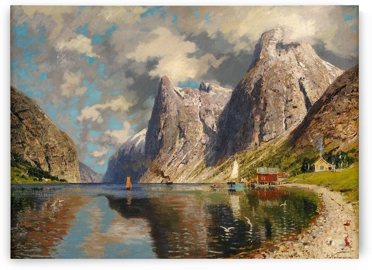 Sommer im Fjord by Adelsteen Normann