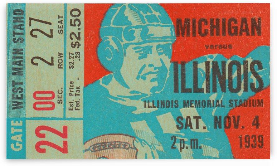 1939 Michigan vs. Illinois by Row One Brand