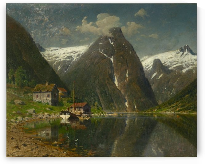 Munken gard i Esefjorden by Adelsteen Normann