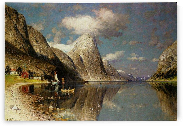 Fjordlandskap by Adelsteen Normann