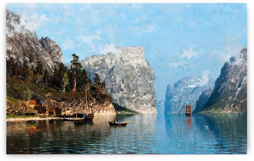 People in the Sognefjord by Adelsteen Normann