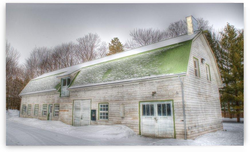 Toit vert en hiver by Christian Bibeau